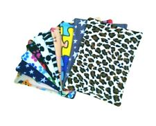 10x Water resistant fleece pee pads,guinea pig, small animals, mixed colours..