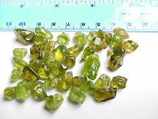 40pc.TUMBLED PERIDOT / OLIVINE 5-15mm Arizona 25g:Metaphysical; Healing #12
