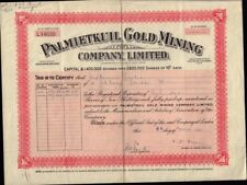 SOUTH AFRICA  Palmietkuil Gold Mining Company Limited dd 1937