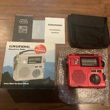 Grundig FR-200 Emergency Crank Radio World Band Receiver New Open Box Rare Red