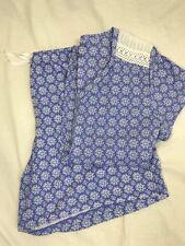 Womens sleep set shorts top Blue white 1X 2X Croft Barrow NEW lounge sleepwear