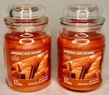 2 AMERICAN HOME BY YANKEE CANDLE AUTUMN SPICED PUMPKIN NET WT. 19 oz New