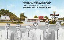 # A1673   BIRMINGHAM,  AL.   POSTCARD,  DRIVE IN    RESTAURANT