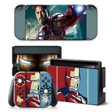 Iron Man Nintendo Switch Protective Skin 4 Pc Sticker Set - #0331