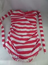 NWTD Esther Williams Snack Bar Beauty 1pc Swimsuit Size 8 Red & White Striped.