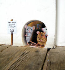 No Cats! Mousehole wall sticker / decal, funny, cute, mice, door, mouse hole
