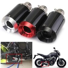 Universal Motorcycle 51mm Slip-On Round Carbon Fiber Exhaust Muffler Dia.105mm