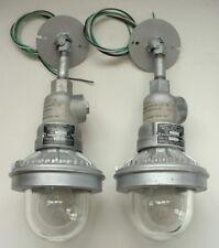 (2) Benjamin Industrial Explosion Proof Factory Pendant Light Ceiling Lamp VTG