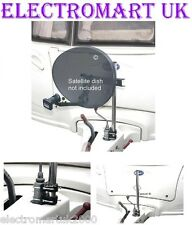 CARAVAN JOCKEY WHEEL MOTORHOME BOAT SATELLITE DISH MAST POLE MOUNTING KIT