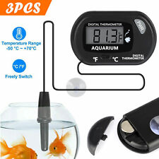 3pcs Lcd Aquarium Thermometer Digital Fish Tank Water Temperature Extra Battery