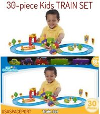 Kids 30-piece My First Starter TRAIN SET Soft Cars Track Accessories TODDLER Lot