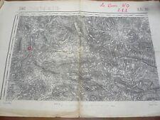 le Buis les Baronnies, 26, plan Carte d'état-major 1889,