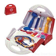 Kids Doctor Toy Bag Pretend Play Kit Medical Nurse Fisher Children Stethoscope