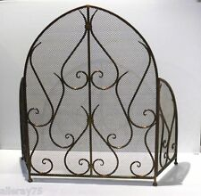 FRENCH PROVINCIAL FIRE SCREEN GUARD ANTIQUE GOLD  WROUGHT IRON QUALITY NEW
