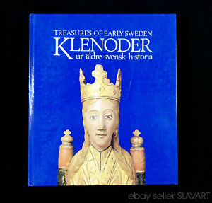 BOOK Ancient Swedish Art History gold jewelry embroidery tapestry carving Gothic