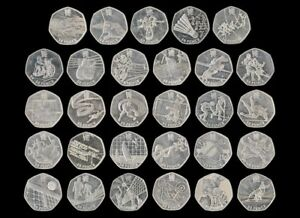 Olympic 50p Coins Fifty Pence - London 2012 Games Coin Hunt Circulated