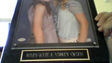 """MARY-KATE & ASHLEY OLSEN  """" TWINS """" AUTOGRAPH BY MOUNTED MEMORIES"""