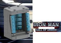 SuperHero Iron Man Hall of Armor Marvel Avengers War Machine Building Blocks