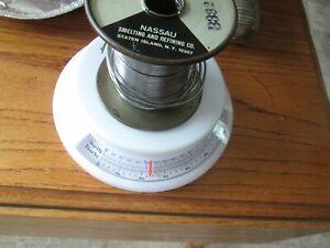 Nassau pure white water rosin solder Pedigreed AT&T Western Electric spec-7076