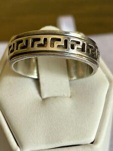 Mens Vintage Celtic Sterling Silver Band Ring Size Y