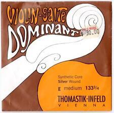 "THOMASTIK-INFELD 3/4 SIZE VIOLIN SINGLE ""G"" STRING 133 DOMINANT SYNTHETIC CORE"