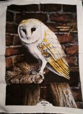 Barn Owl Tea Towel Lesser & Pavey Tawny/Kitchen/English/Wildlife/Countryside/NEW
