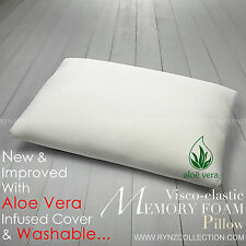MEMORY FOAM PILLOW TRADITIONAL SHAPED VISCO ELASTIC NECK BACK SUPPORT.