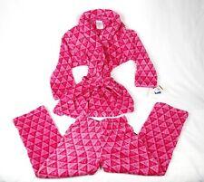 Calvin Klein Girls Sleepwear Soft Fleece Robe and Pajamas Set Kids Size 5 6 NWT
