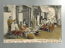 1907 Netherlands Indies real picture postcard Cover 2 Czechoslovakia shopkeepers