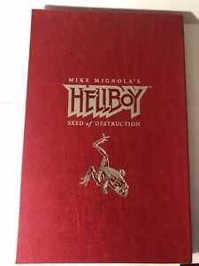 mike mignola signed Hellboy Seed Of Destruction Limited Edition HC #'d To 1000