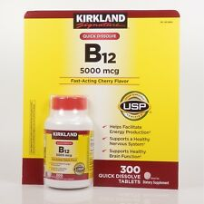 Kirkland Quick Dissolve Vitamin B-12 5000mcg 300 Tablets Energy Production