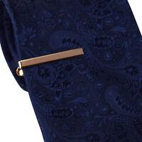 Mens Boys 4CM Rose Gold Tie Bar  Skinny Standard Slim Clip Clasp Pin