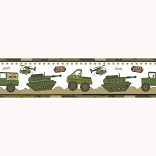 ARMY CAMP WALLPAPER BORDER - A12804 - PRICE RIGHT HOME EXCLUSIVE DESIGN NEW