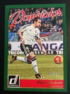 2016-17 Panini Donruss Dominators Canvas 14 Paco Alcacer ed/49 DORTMUND BVB