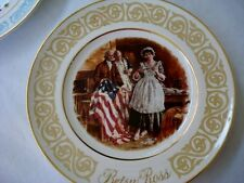 """Avon Collector Plates Lot 2 Betsy Ross Flag & Freedom 9"""" 1973 & 1974 Wedgwood"""