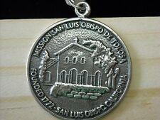 San Luis Obispo CA Mission History Sterling Silver Souvenir Collectible Pendant