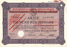 Berlino-Ovest Planimetria-AG (Galeries Lafayette) 1928 Berlino