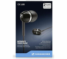 New Boxed - Sennheiser CX 1.00 In-Ear canal Headphones : Black - FREEPOST