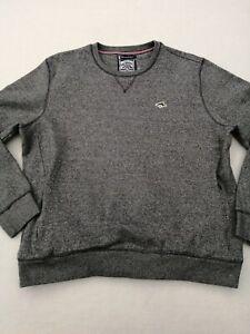 "Mens Le Shark sweatshirt Large chest 46"" long sleeves crew neck blue 2 zip pocke"