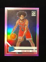 2019-20 Donruss Optic Coby White PINK HOLO PRIZM RATED ROOKIE SSP RC #/25 BULLS
