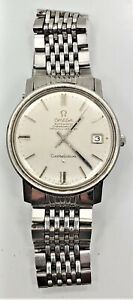 Running 1967 Omega  Constellation 564 Automatic 24J Date S. Steel Wrist Watch W3