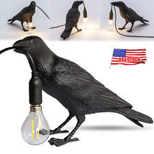 Raven Table Lamp Lifelike Bird Home Landscape Warm White Crow Desk LED Light