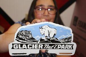 Glacier National Park Hunting License Plate Topper Porcelain Metal Sign