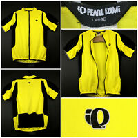 Pearl Izumi Adult Large (40 in Chest) Yellow Full Zip Bicycle Cycling Jersey