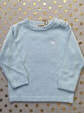 BNWT Timberland 100% Pure Cotton Pale Blue Jumper Top Size 3 Buttons On Shoulder