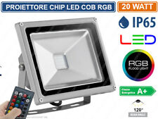 FARO PROIETTORE LED 10W 20W 30W 50W RGB MULTICOLORE IP65 TELECOMANDO INFRAROSSI
