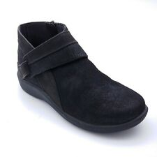 Clarks Cloudstepper Womens Sillian Rani Exposed Ankle Bootie Black 10W
