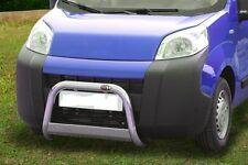 FIAT QUBO  BULL BAR MIRROR INOX 60 LUCIDO C/TRAVERSA C/OMOLOGAZIONE EUROPEA