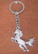 porte clés cheval argenté 51x43 mm