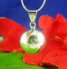 925 Stunning Silver chiming ball pendant necklace 22''chain-Baby shower Gift UK